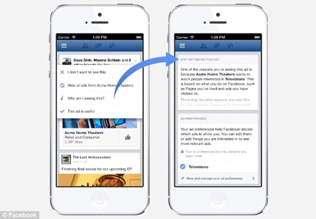 Facebook wants to strain your mobile advertising third-party applications