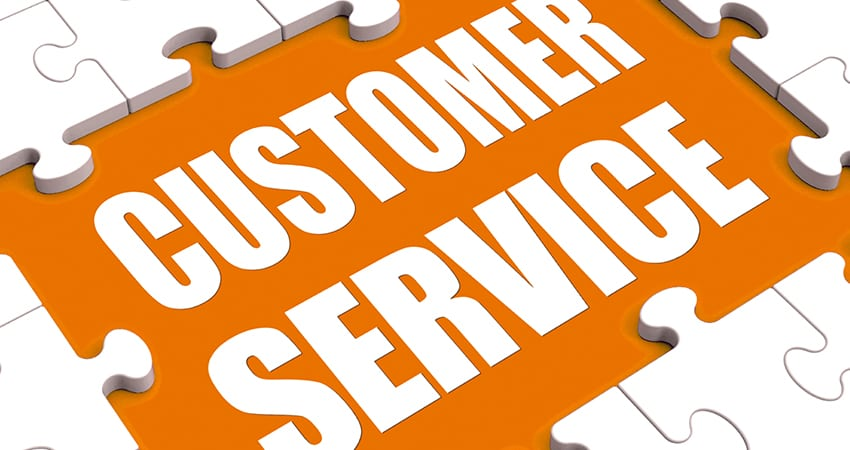 Customer service Third criterion for choosing a company